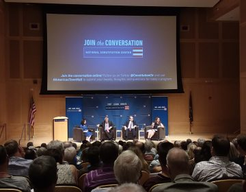 Panelists at the National Constitution Center Annual Supreme Court Review discussed and analyzed the court's 2017-2018 term Tuesday in Philadelphia. (Maya Aphornsuvan/ for WHYY)