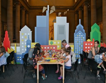 Families gather in the Great Stair Hall at the Philadelphia Museum of Art for ArtSplash, a kid-friendly summer program that is having extraordinary success.
