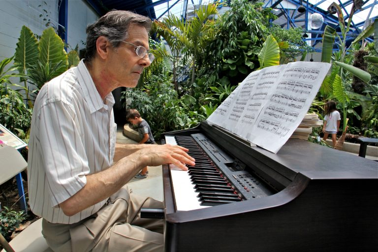 Pianist Lance Wiseman plays