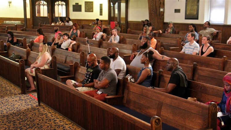 About 45 people attended the racial profiling workshop at the People's Education Center in Germantown.