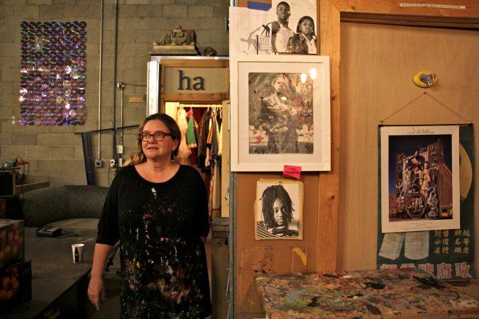 Meg Saligman's studio in South Philadelphia is the setting for