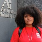 Mykaela Valentin, 21, was halfway to her degree in animation at the Art Institute of Philadelphia when she found out the school was going to close. (Emma Lee/WHYY)