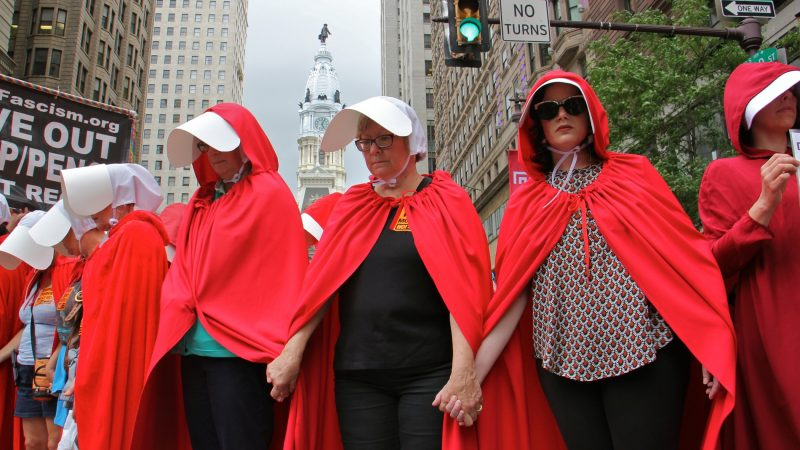 Women dressed as characters from the television show