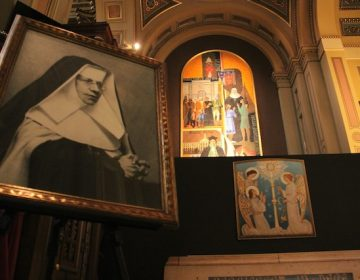 The shrine of St. Katharine Drexel, including her tomb, is now established in the Basilica of Saints Peter and Paul in Philadelphia. (Emma Lee/WHYY)
