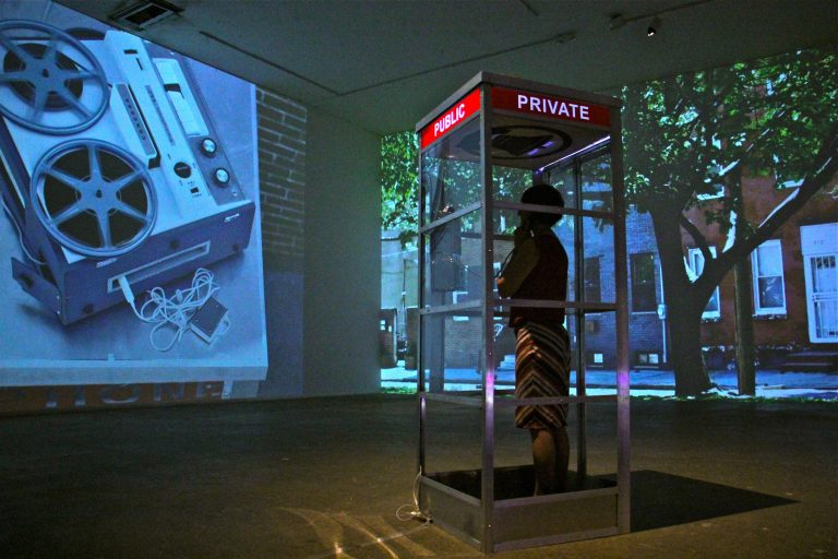 Lisa Marie Patzer's immersive installation at the Crane Arts Building,