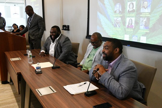 A forum on the business of medicinal and recreational use of cannabis in the African-American community was well attended Thursday in  Center City. (Bastiaan Slabbers for WHYY)