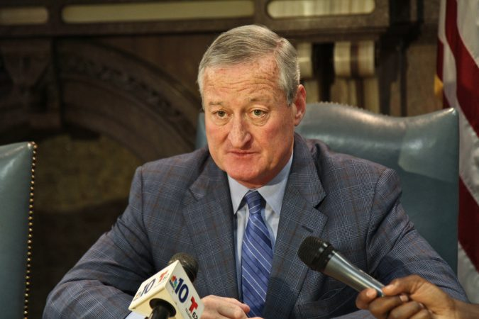 Philadelphia Mayor Jim Kenney said he'd meet with protesters from the encampment. (Kimberly Paynter/WHYY)