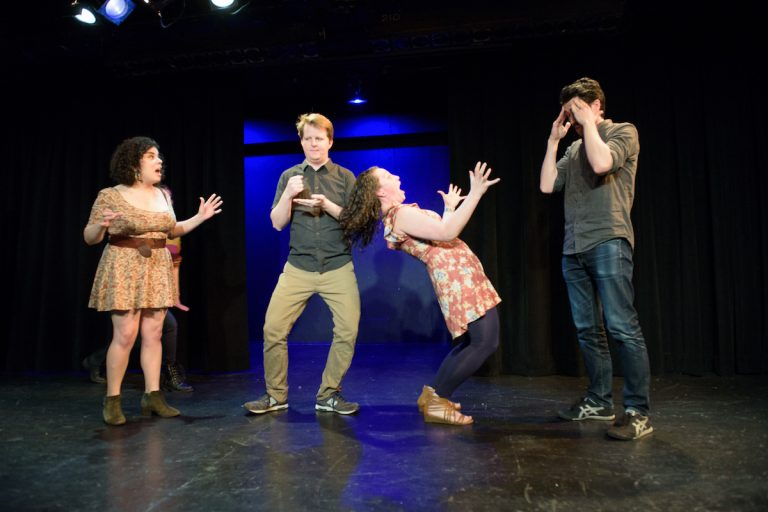 Twice a month, players from Philly Improv Theater invent a musical on the spot. (Sam Abrams Photography)