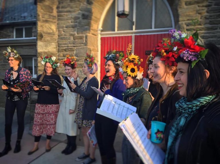 The Philadelphia Women's Slavic Ensemble is performing Sunday at Bartram's Garden with the West Philadelphia Orchestra. There will also be a Balkan buffet and lessons in making flower crowns. (Marcin Cienski)