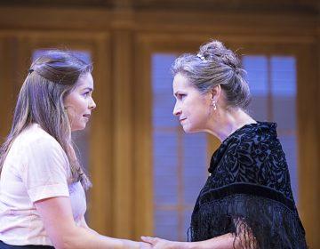 Emiley Kiser (left) and Susan Riley Stevens in the Pennsylvania Shakespeare Festival production of