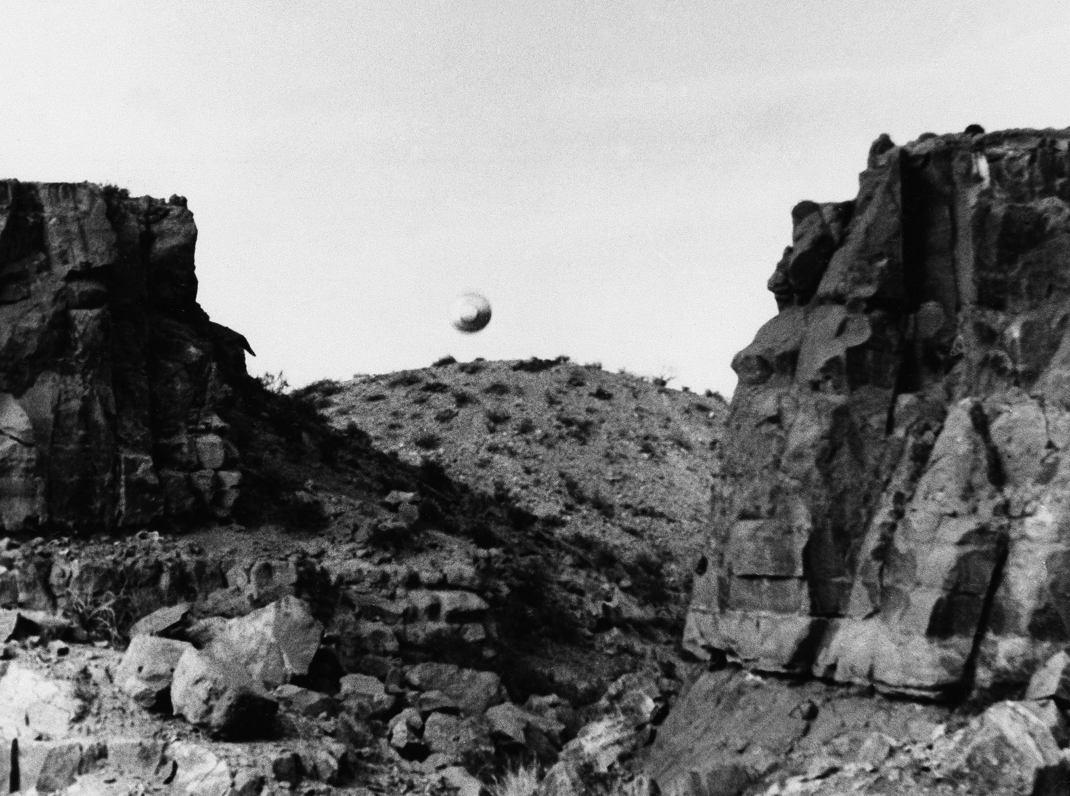 UFO sighted by a New Mexico State University student, West of Picacho Peak, Las Cruces, New Mexico, March 12, 1967