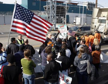 In 2011, immigration advocates protested outside the Essex County Correctional Facility, which has one of the most lucrative contracts with Immigration and Customs Enforcement in the country. (Mel Evans/AP Photo )
