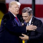 President Donald Trump, (left), greets Pa. Rep. Lou Barletta, R.Pa., before a speech at H&K Equipment Co. on Thursday, Jan. 18, 2018 in Coraopolis, Pa. Barletta is running for the U.S. Senate. (Keith Srakocic/AP Photo)