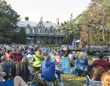 Delaware Shakespeare players entertain a big crowd at Rockwood Park in 2017's performance of Henry V. (Alessandra Nicole/Delaware Shakespeare)