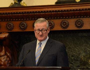 Philadelphia Mayor Jim Kenney announces a coming end to the city's data-sharing contract with ICE (Tom MacDonald/WHYY)