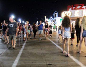 Walking the Ocean City boardwalk. (Bill Barlow/for WHYY)