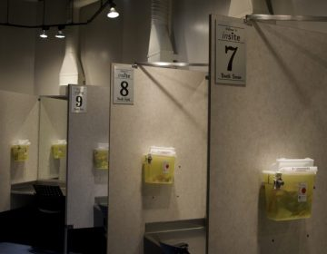 Inside Insite, North America's first public supervised injection facility, located in Vancouver. (Elana Gordon/WHYY)