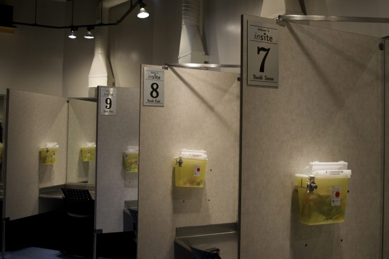 Inside Insite, North America's first public supervised injection facility, located in Vancouver. Photo by Elana Gordon/WHYY