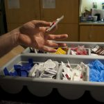 Insite, Vancouver's supervised injection facilityyt, provides people with clean injection supplies. Photo by Elana Gordon, WHYY