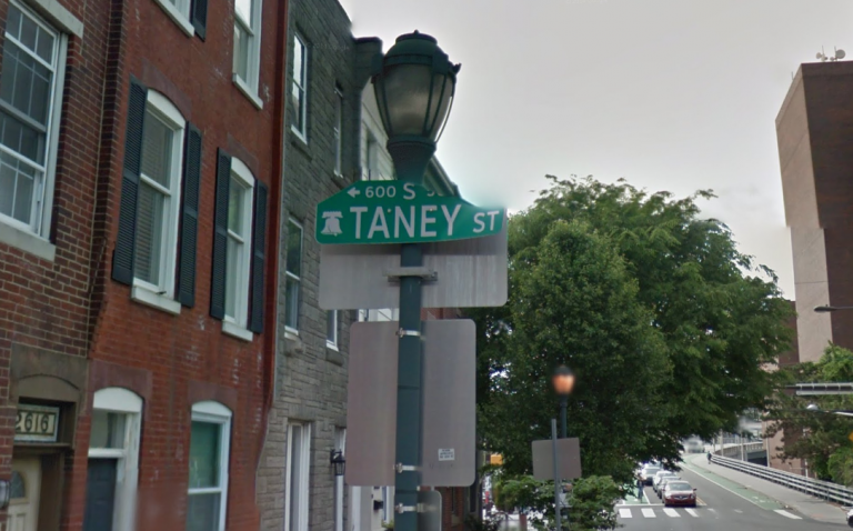Taney Street is named for the chief justice of the U.S. Supreme Court who wrote the infamous Dred Scott decision. (Google Maps)