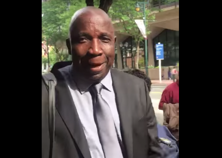 Jucontee Thomas Woewiyu was convicted Tuesday after a three-week trial in Philadelphia.(Frontpageafrica / youtu.be/cct_movK3EQ)