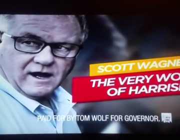 An attack ad depicting GOP gubernatorial candidate Scott Wagner was paid for by Pennsylvania Gov. Tom Wolf. (YouTube)
