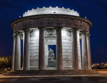 Built in the style of a Greek temple, Atlantic City's monument to the men who served in World War I was erected in 1922.