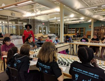 Adia Onyango, a New York-based chess instructor and professional player, visited the 2017 Girls Chess Camp.  (ASAP/After School Activities Partnerships)
