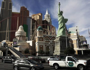 Robert Davidson finished his Las Vegas statue of Lady Liberty in 1996. A federal judge ruled last week that Davidson's replica was different enough from the original Statue of Liberty to hold a copyright. (John Locher/AP)