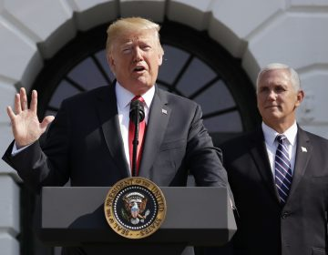 Speaking at the White House, President Trump called Friday's report of 4.1 percent economic growth in the second quarter