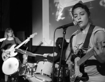 Philly-based band Bronco plays at First Time's the Charm 2016. The festival promotes new bands that feature women, people of color, queer people, new musicians, and more, in a bid to diversify the DIY scene. (Credit: Sharp Hall)