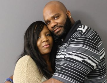 Brandy and De'Marchoe Carpenter got married two years ago — 13 days after he was released from prison. They started dating in 1994, but before they had their first kiss, he was arrested for a crime he didn't commit. (Kevin Oliver/StoryCorps)