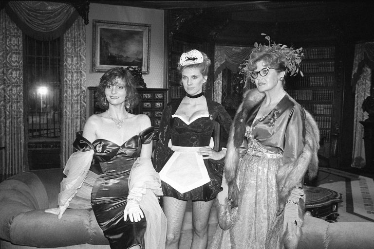 Lesley Ann Warren, Colleen Camp and Eileen Brennan stand on the set of the movie