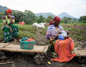A woman breastfeeds her child in a village in the Democratic Republic of the Congo. (Phil Moore/AFP/Getty Images)