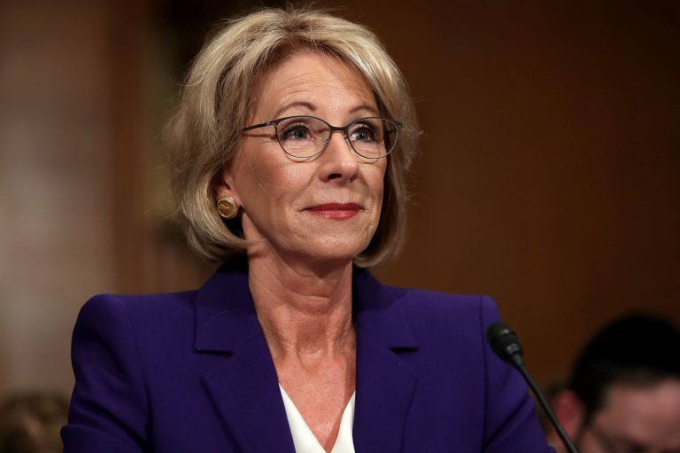 Education Secretary Betsy DeVos is proposing new rules to the Borrower Defense program. (Chip Somodevilla/Getty Images)