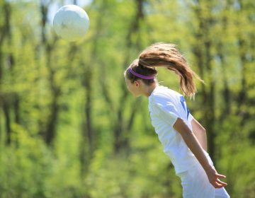 The brains of female soccer players who head the ball frequently show white matter alterations. (Krista Long/Getty Images)