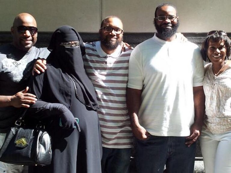 Eugene Gilyard (center) and Lance Felder (second from left) were exonerated in 2014 after spending 16 years in prison for a murder they did not commit. (Photo courtesy of the Pennsylvania Innocence Project)