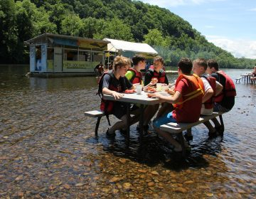 Located in a remote spot on the Delaware River tubing route, the Famouse River Hot Dog Man is the only game in town for tubers, whose lazy journeys can last four to six hours.