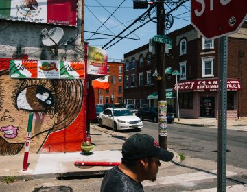 The neighborhood around the outdoor Italian Market is now dotted with taquerias and is home to an estimated 20,000 Mexican residents. (Michelle Gustafson for The New York Times)