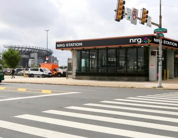 A rendering of the Broad Street Line's newly renamed NRG Station on Pattison Avenue.