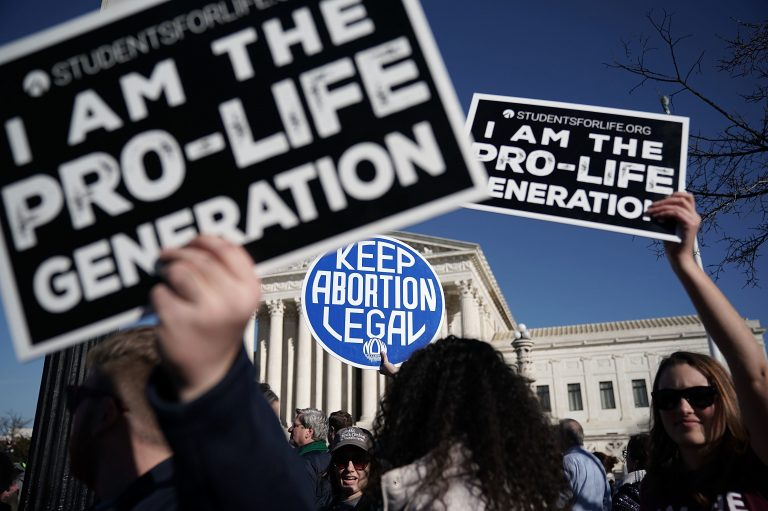 Activists outside the Supreme Court in January voiced their support for abortion rights nationwide. (Alex Wong/Getty Images)