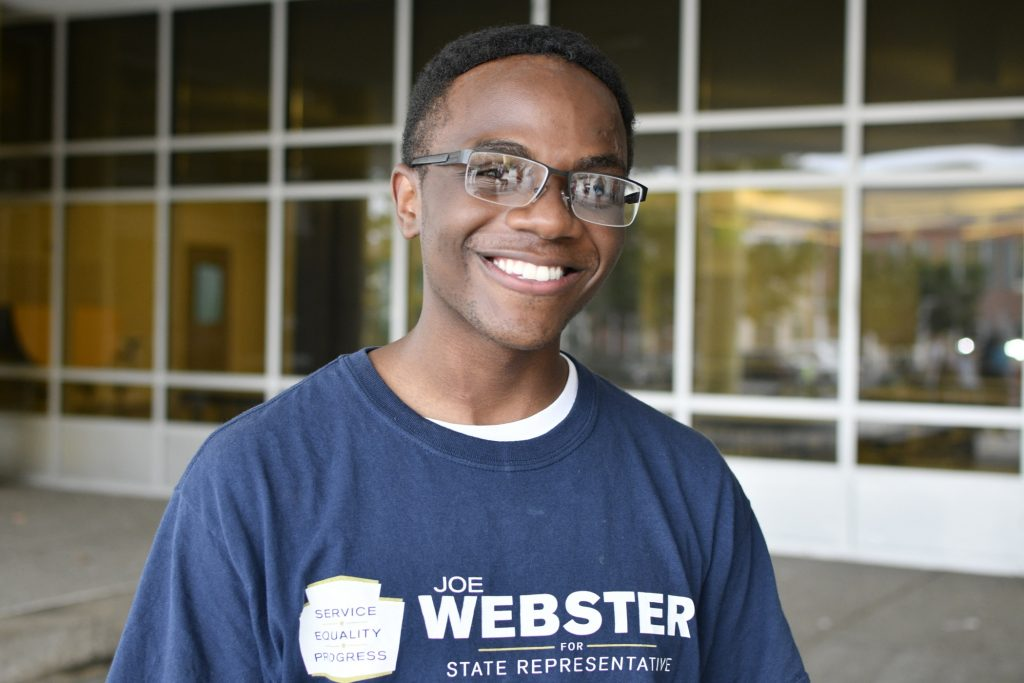 Marcus Muli, 22, of Ambler, Pa., is a campaign manager for a local candidate.