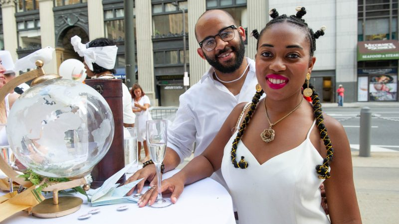 First year attendees are Emmanuel Stuppard and Danielle Jeter-Stuppard. (Jonathan Wilson for WHYY)