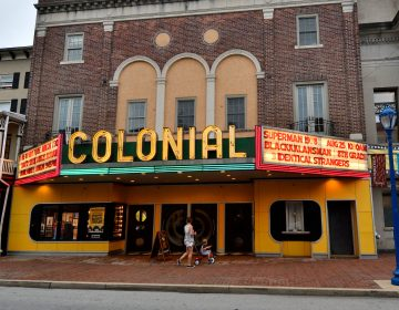 The Colonial, located in the heart of the commercial corridor on Bridge Street in Phoenixville, PA, on August 21, 2018. (Bastiaan Slabbers for WHYY)