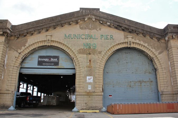 The Cherry Street Pier, once knows as Municipal Pier No. 9, will become an indoor/outdoor park with artists studios when it opens on Oct. 12. (Emma Lee/WHYY)