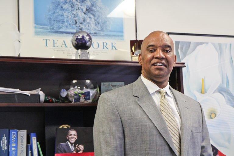 David T. Jones is commissioner of the Philadelphia Department of Behavioral Health and Intellectual disAbility Services. (Kimberly Paynter/WHYY)