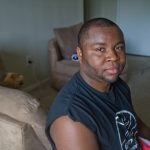 Jerome Maynard at his apartment in Northwest Philadelphia. (Kimberly Paynter/WHYY)