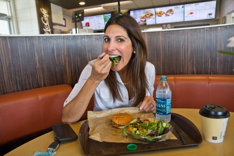 Nutritionist Nyree Dardarian ate McDonald's food for three meals a day for a month. (Kimberly Paynter/WHYY)