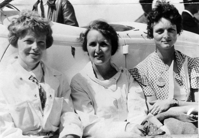Rivals in the sky, Earhart, Nichols and Thaden became friends on the ground, helping the female pilots organize against the men.