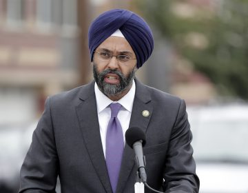 New Jersey Attorney General Gurbir Grewal speaks during a news conference, Wednesday, Aug. 1, 2018, in Newark, N.J. (AP Photo/Julio Cortez)